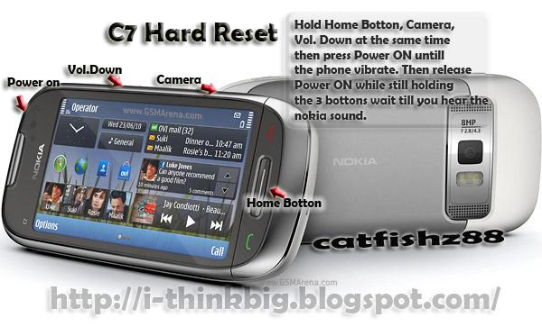 Как сделать полный сброс (hard reset) на Nokia C7