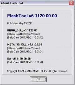 FlashTool v5.1120.00 original программа для прошивки китайских телефонов
