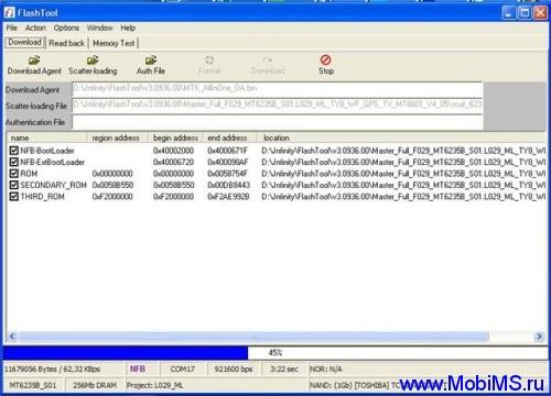 Мануал по работе с программой FlashTool_v3.1108