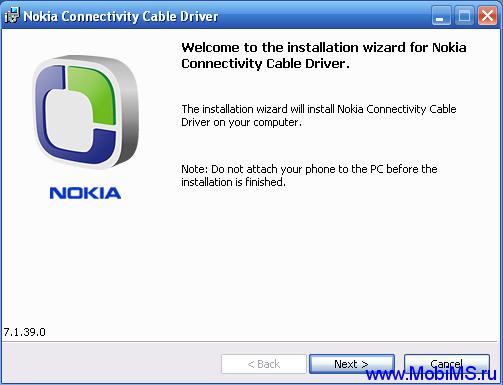 Nokia Connectivity Cable Driver - NCCD_7.1.48.0 Единый драйвер для всех телефонов Nokia