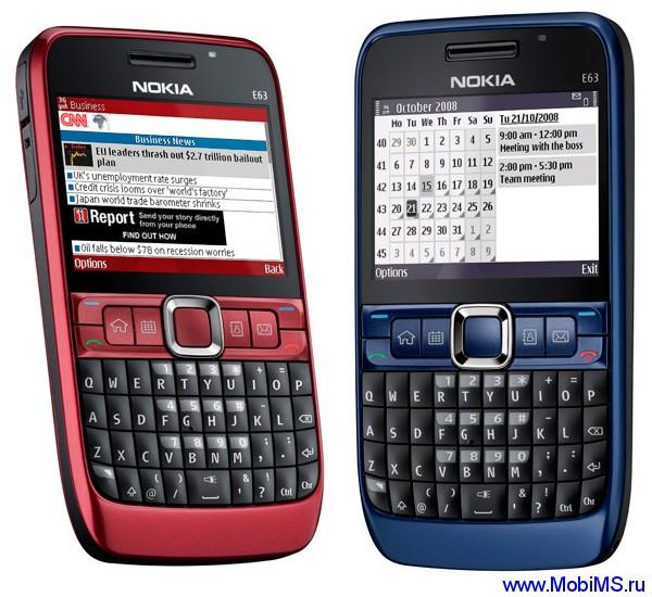 Прошивка для Nokia E63 SW RM-437 v510.21.010