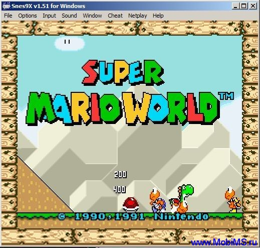 Snes9X v1.51 for Windows.