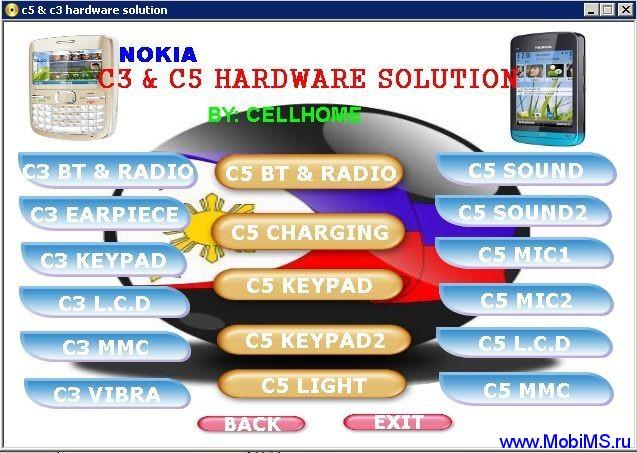 Инструкции, схемы для ремонта Nokia c5 & c3 hardware solution.am7
