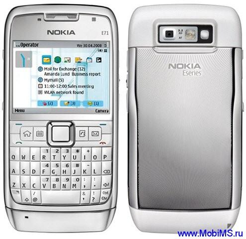 Прошивка для Nokia E71 RM-346 Gr.RUS sw-510.21.009