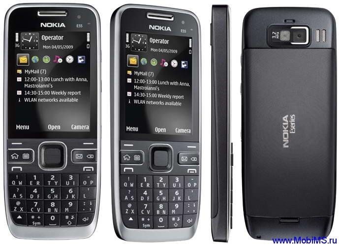Пошивка для Nokia E55 RM-482 Gr.RUS sw-034.001 v5