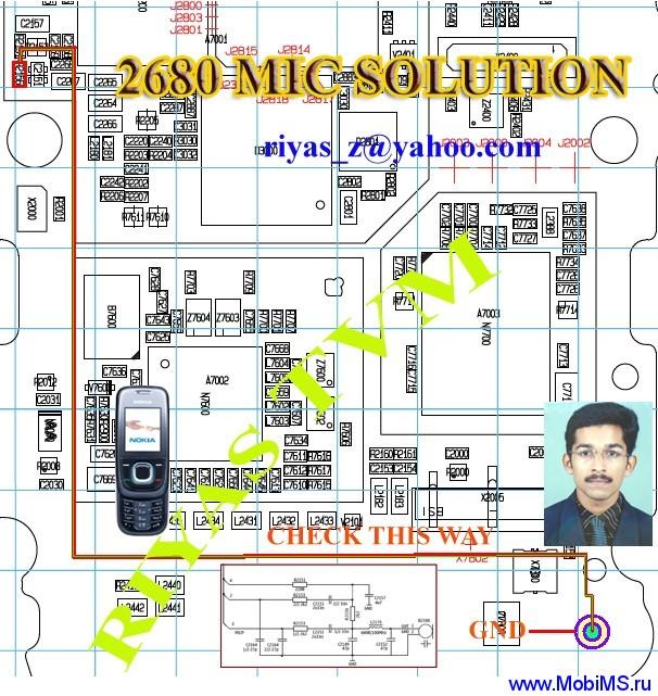Схема и солюшены для Nokia 2680s RM- 392 schematics v1_0