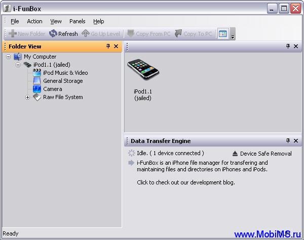 iFunBox - бесплатный файл менеджер для iPhone и iPod Touch.