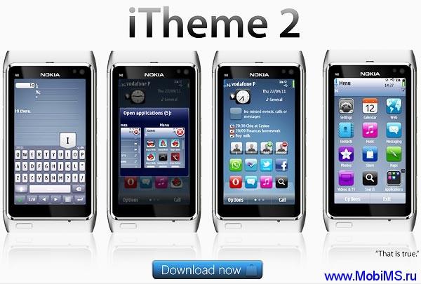 Тема Nokia Iphone By Dj Kang, для Nokia Symbian^3 , Anna, Belle