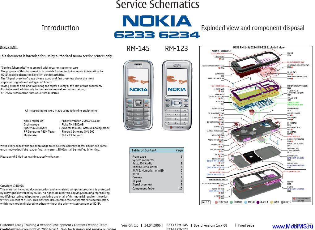 schematics) для Nokia 6233