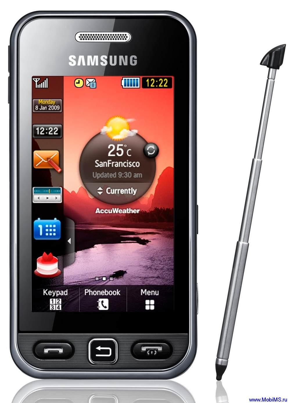 Прошивка S5233TXEJF1 для Samsung S5233T