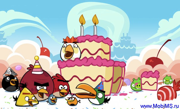 Игра Angry Birds v2.0.2 Birdday Party Signed для Nokia Symbian^3