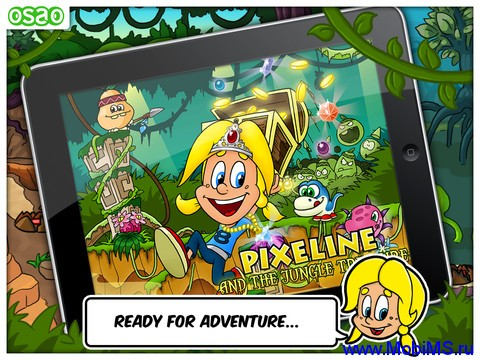 Игра Pixeline & The Jungle Treasure для Nokia N8, C6-01, C7, E7