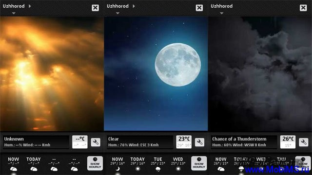 Weather HD для Nokia N8, C7, C6-01, E7, X7
