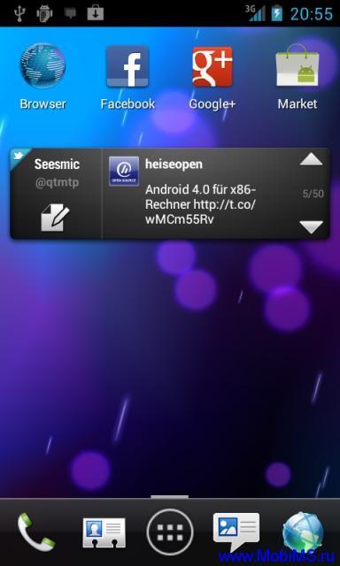 Интерфейс  Phoenix Launcher 0.9.7.14  для Android.