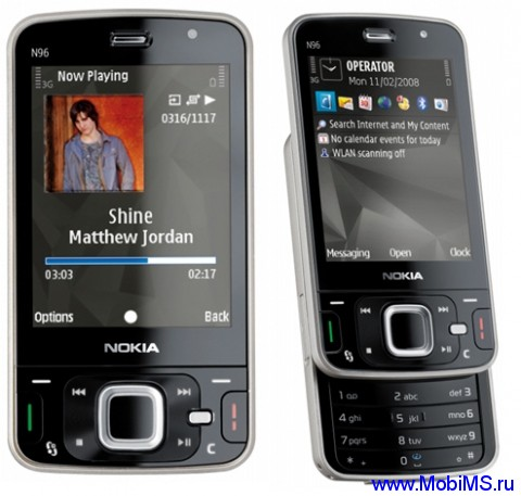 Прошивка для Nokia N96 RM-247 RUS 30.033 v07.00