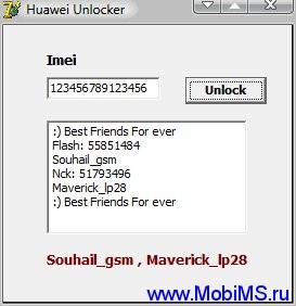 Huawei Unloker