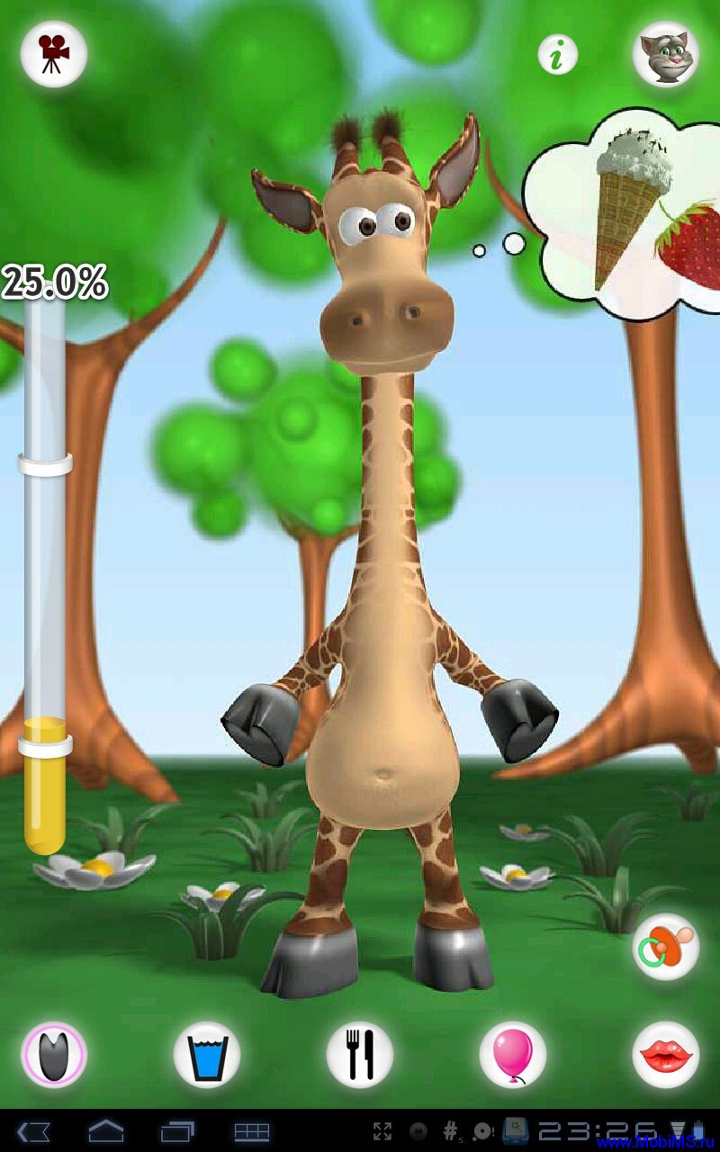Talking Gina the Giraffe версия 1.1.1 для Android