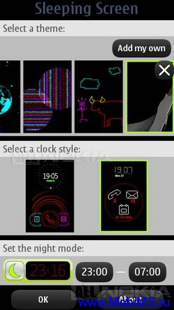 Nokia Sleeping Screen v.1.14.1 для Symbian^3