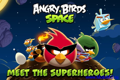 Игра Angry Birds Space (v1.2.1) для iPhone, iPod или iPad.