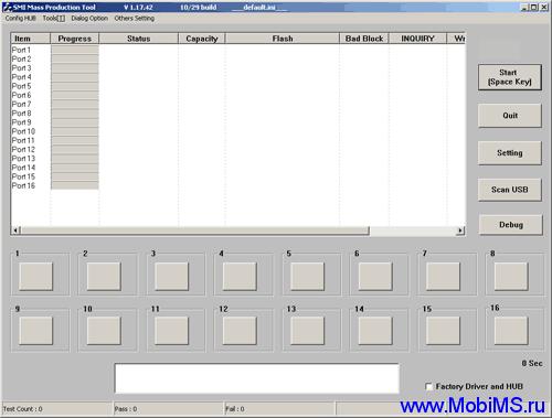 Test SM32x H1029 v. 1.17.42 / SMI (Silicon Motion)