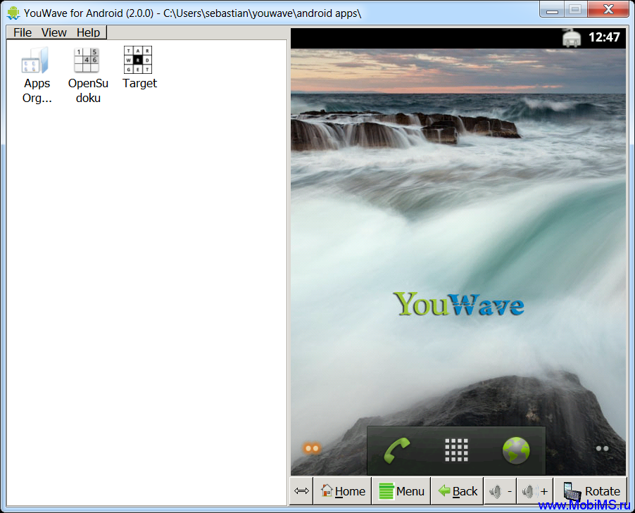 YouWave for Android 2.3.4