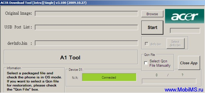 ACER Download Tool  v3.100 20091027