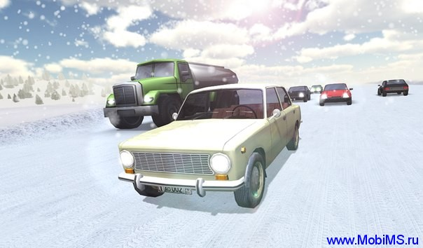 Игра Russian snow traffic racer для Android