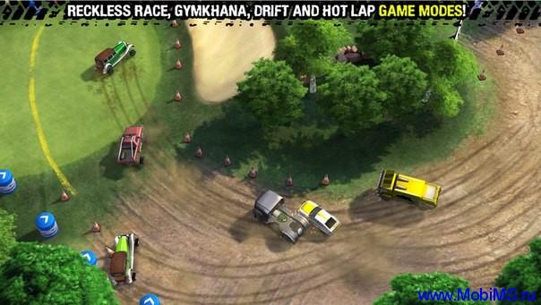 Игра Reckless Racing 3 + Мод много денег для Android