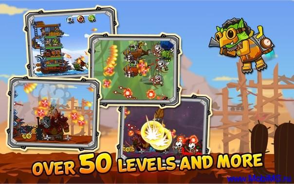 Игра Monster Mania - Tower Strikes + МОД много денег для Android
