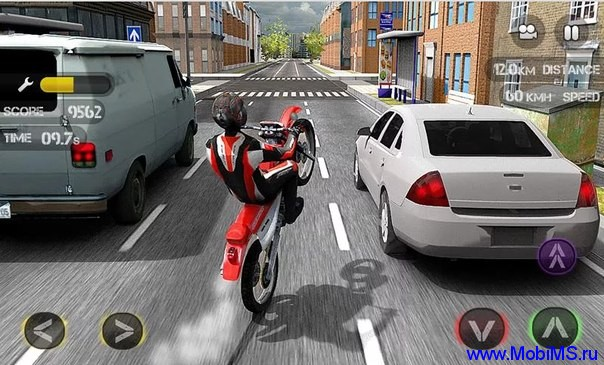 Игра Race the Traffic Moto для Android