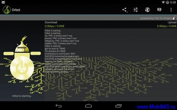 Приложение Orbot Прокси в комплекте с Tor для Android