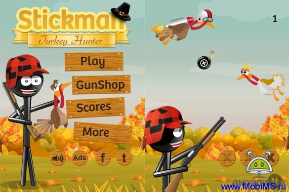 Игра Stickman Turkey Hunter для Android
