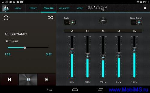 Приложение Music Equalizer Pro  для Android