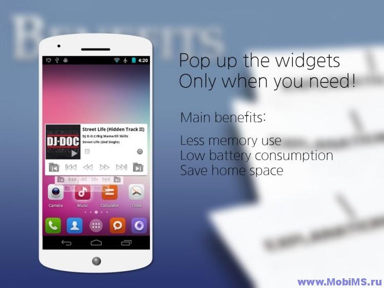 Приложение Popup Widget 2 для Android