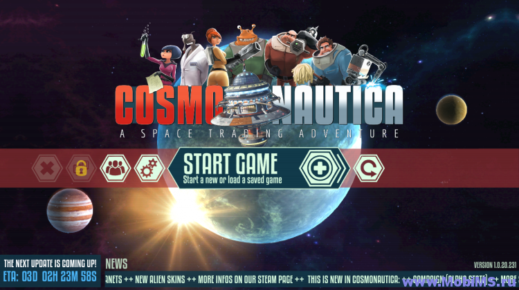Игра Cosmonautica (EARLY ACCESS) для Android