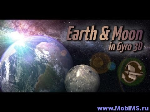 Живые обои Earth & Moon in HD Gyro 3D PRO для Android