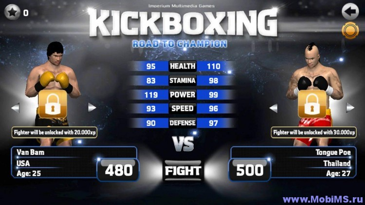 Игра Kickboxing Road To Champion P + Мод на валюту для Android