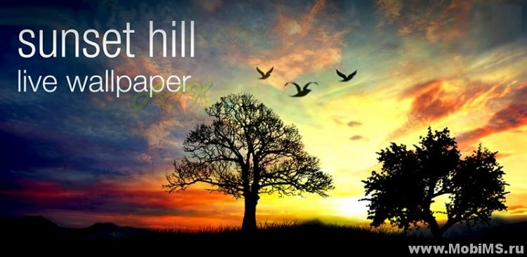 Живые обои Sunset Hill Live Wallpaper для Android