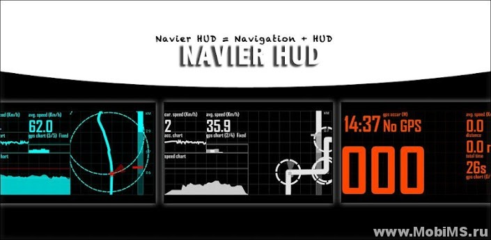 Приложение Navier HUD Navigation Premium для Android